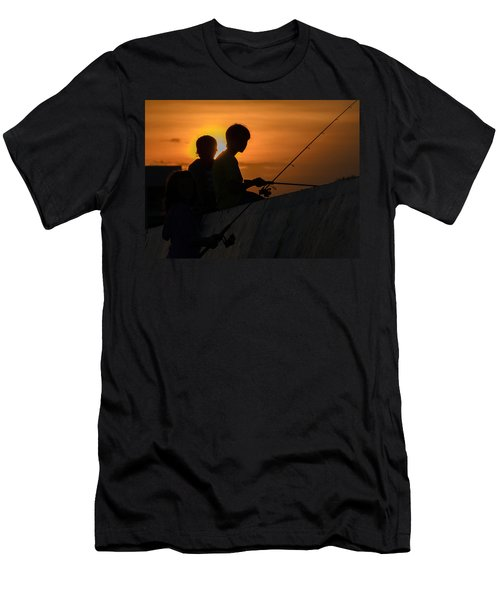 Sunset Anglers Men's T-Shirt (Athletic Fit)