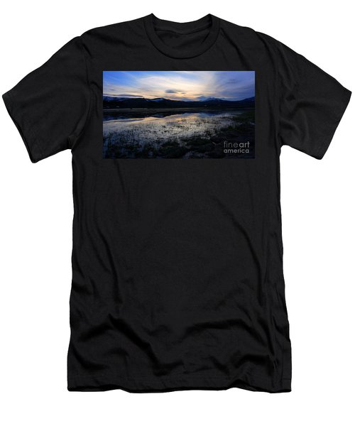 Sunset At A Lake Near Mammoth In Yellowstone Men's T-Shirt (Athletic Fit)