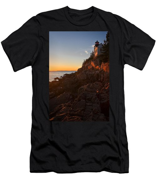 Sunset At Bass Head   Men's T-Shirt (Slim Fit) by Priscilla Burgers