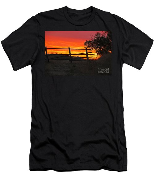 Sunset At Bear Butte Men's T-Shirt (Slim Fit) by Mary Carol Story