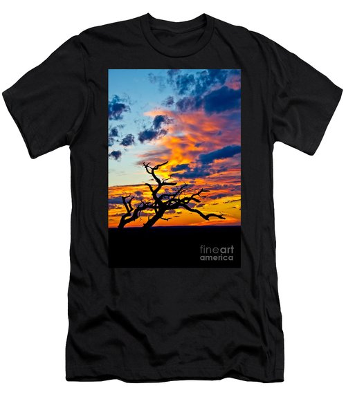 Sunset At Enchanted Rock Men's T-Shirt (Athletic Fit)