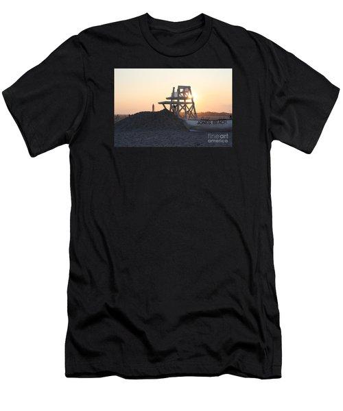 Sunset At Jones Beach Men's T-Shirt (Athletic Fit)
