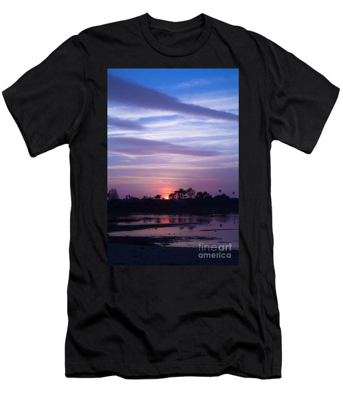 Sunset At Malibu Beach Lagoon Estuary Fine Art Photograph Print Men's T-Shirt (Athletic Fit)