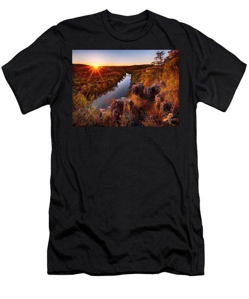 Sunset At Paint-rock Bluff Men's T-Shirt (Athletic Fit)