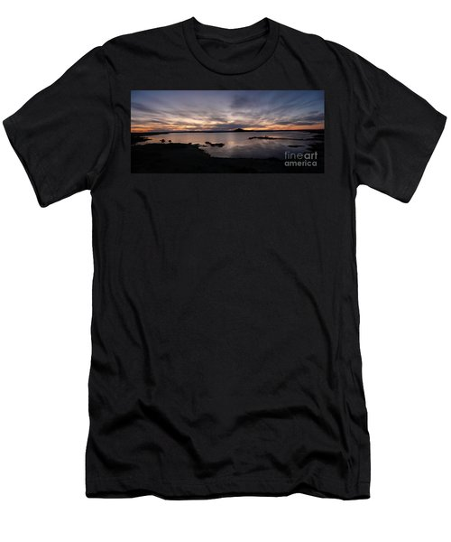 Sunset Over Lake Myvatn In Iceland Men's T-Shirt (Slim Fit) by IPics Photography