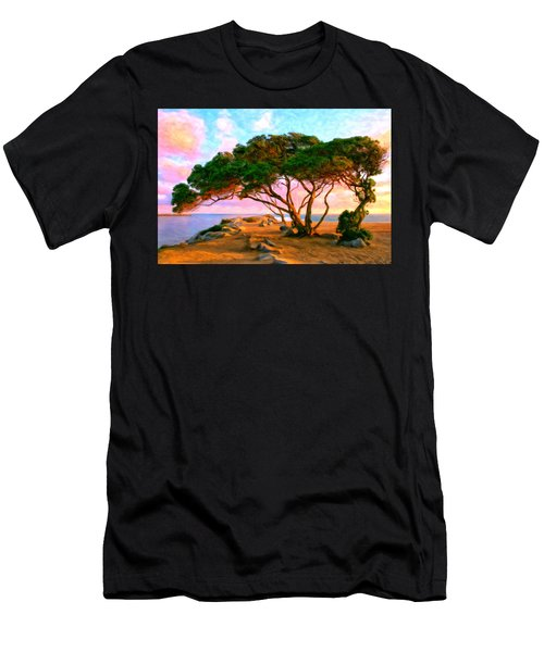 Sunset At The Wedge In Newport Beach Men's T-Shirt (Athletic Fit)