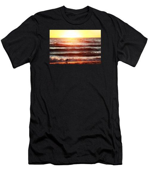 Sunset Beach Men's T-Shirt (Athletic Fit)