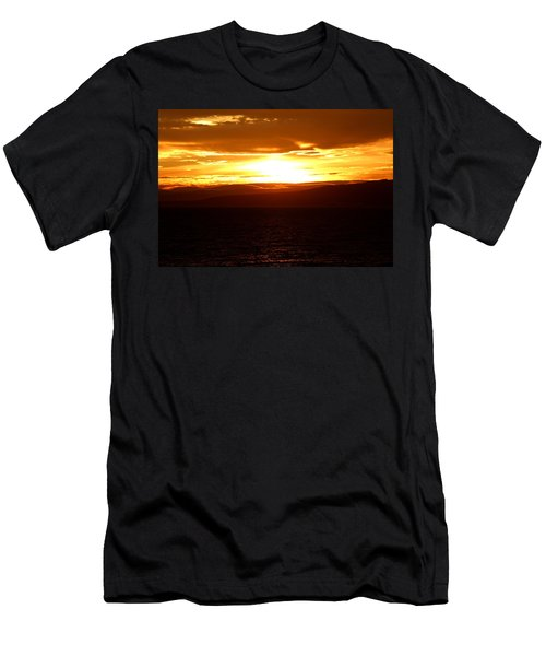 Sunset By The Fjord Men's T-Shirt (Athletic Fit)