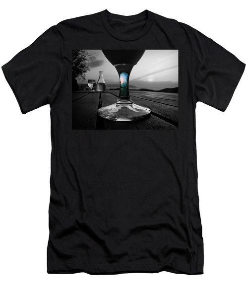 Sunset Cafe Men's T-Shirt (Slim Fit) by Micki Findlay