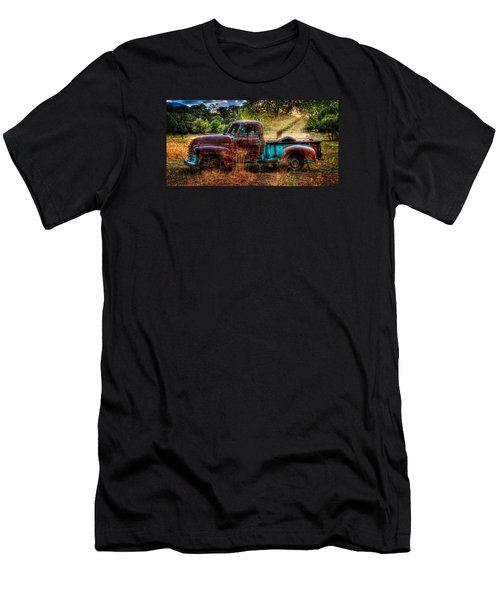 Sunset Chevy Pickup Men's T-Shirt (Slim Fit) by Ken Smith