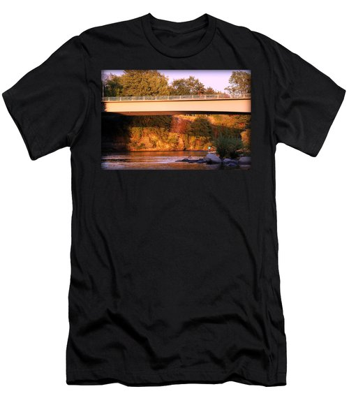 Men's T-Shirt (Slim Fit) featuring the photograph Sunset Dip by Melanie Lankford Photography