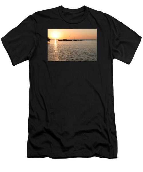 Sunset Fish Men's T-Shirt (Athletic Fit)
