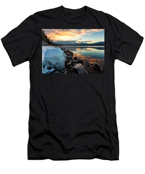 Sunset Frozen Men's T-Shirt (Slim Fit) by Aaron Aldrich
