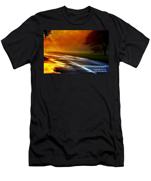 Sunset Glint In The Mist Men's T-Shirt (Athletic Fit)