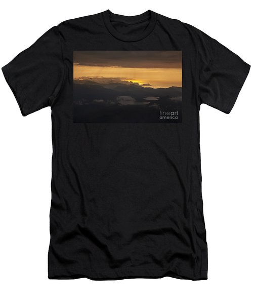 Sunset Men's T-Shirt (Slim Fit) by Gunnar Orn Arnason