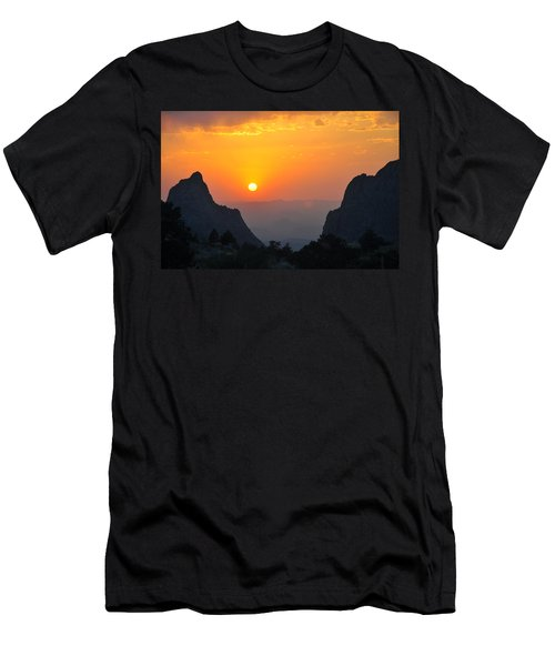 Sunset In Big Bend National Park Men's T-Shirt (Athletic Fit)