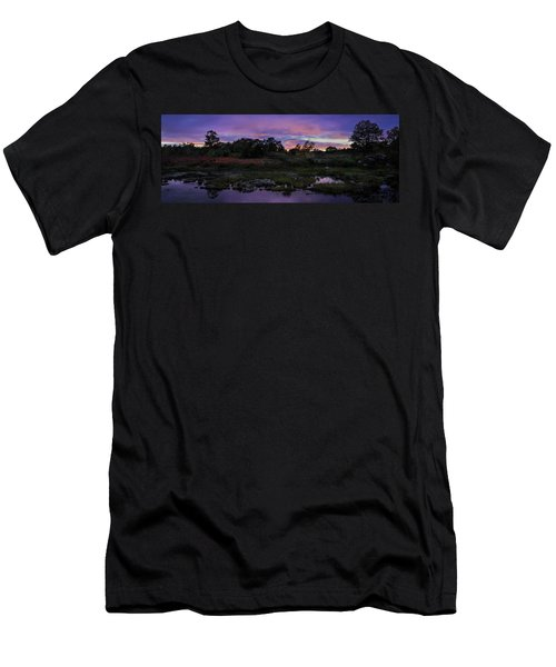 Sunset In Purple Along Highway 7 Men's T-Shirt (Slim Fit) by Peter v Quenter