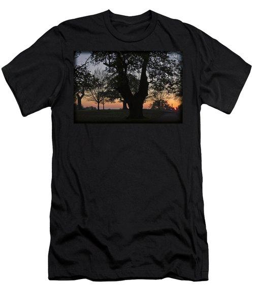 Sunset In Richmond Park Men's T-Shirt (Slim Fit) by Maj Seda