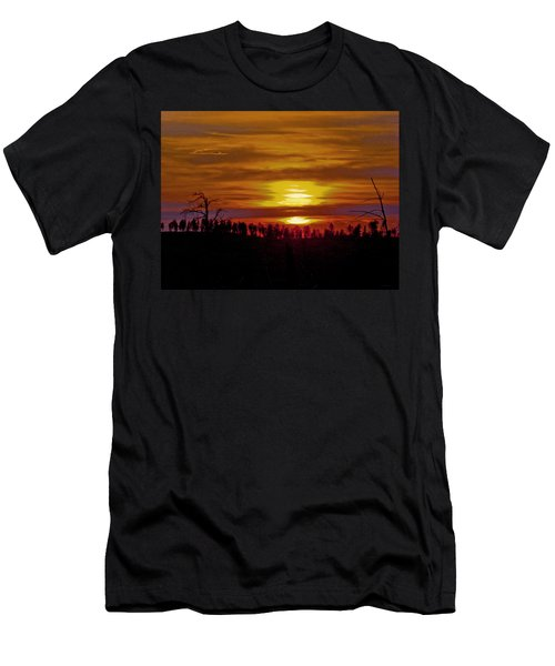 Men's T-Shirt (Slim Fit) featuring the photograph Sunset In The Black Hills 2 by Cathy Anderson