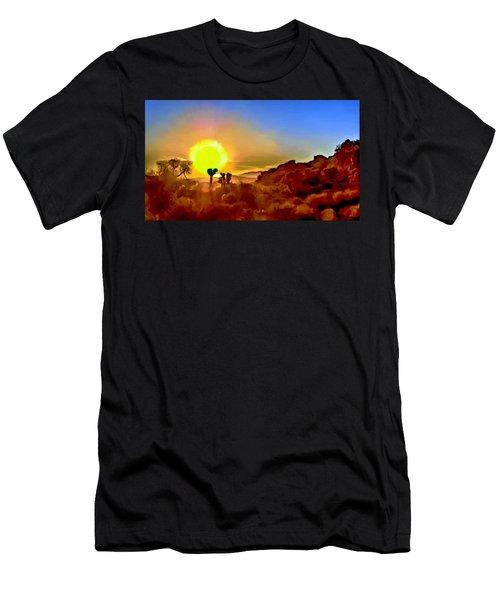 Sunset Joshua Tree National Park V2 Men's T-Shirt (Athletic Fit)
