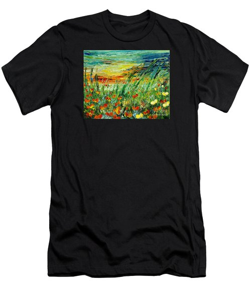 Sunset Meadow Series Men's T-Shirt (Athletic Fit)