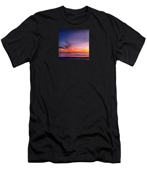 Sunset Moon Rise Men's T-Shirt (Athletic Fit)