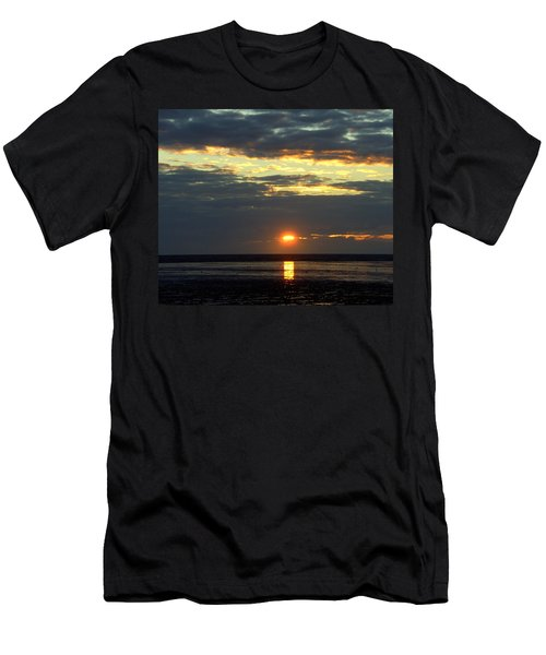 Sunset On A Cloudy Evening Men's T-Shirt (Athletic Fit)
