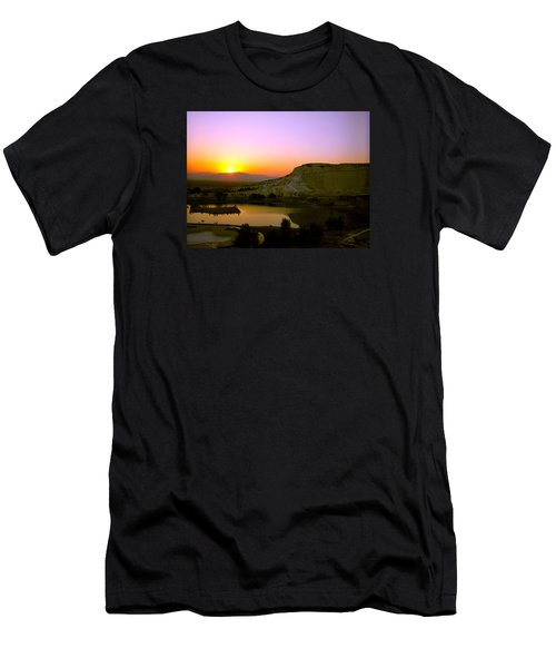 Sunset On Cotton Castles Men's T-Shirt (Athletic Fit)