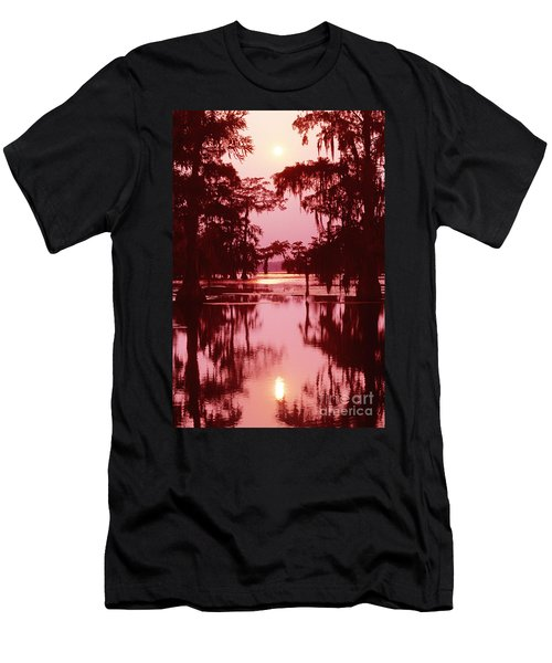 Men's T-Shirt (Slim Fit) featuring the photograph Sunset On The Bayou Atchafalaya Basin Louisiana by Dave Welling