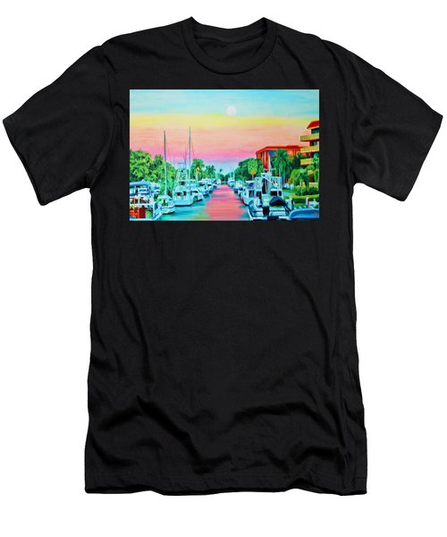 Sunset On The Canal Men's T-Shirt (Athletic Fit)