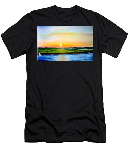 Sunset On The Marsh Men's T-Shirt (Athletic Fit)