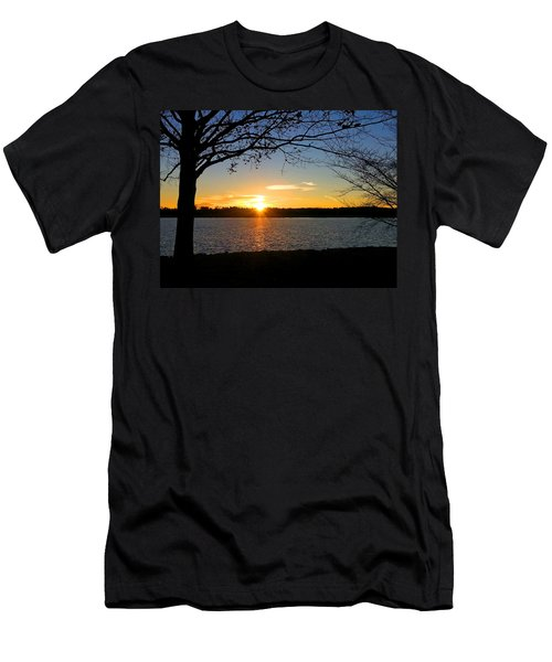 Sunset On The Potomac Men's T-Shirt (Slim Fit) by Emmy Marie Vickers