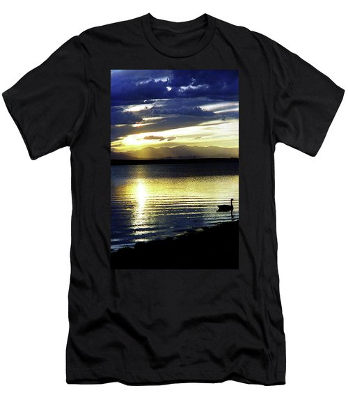 Sunset Over Aurora Men's T-Shirt (Athletic Fit)