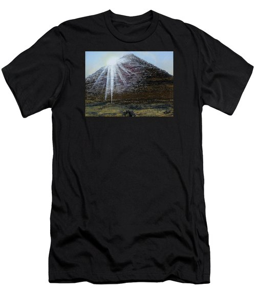 Sunset Over Khufu Men's T-Shirt (Slim Fit) by Raymond Perez