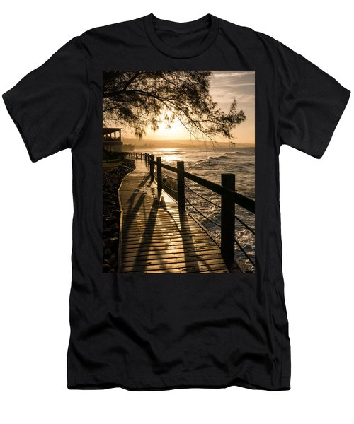 Sunset Over Ocean Walkway Men's T-Shirt (Athletic Fit)