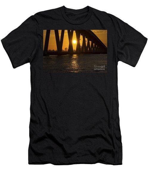 Sunset Over Sanibel Island Photo Men's T-Shirt (Athletic Fit)