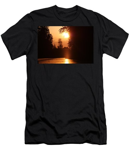 Sunset Over The Canals Men's T-Shirt (Athletic Fit)