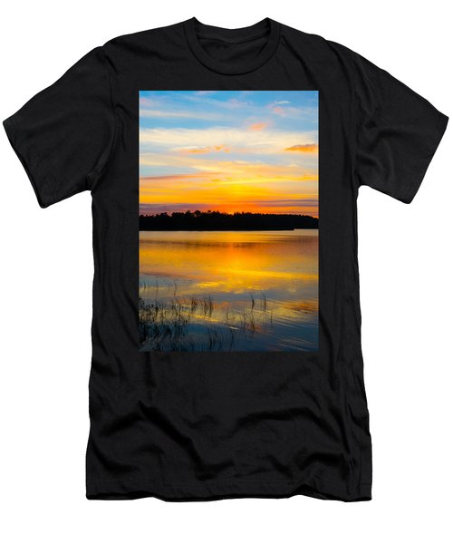 Sunset Over The Lake Men's T-Shirt (Athletic Fit)