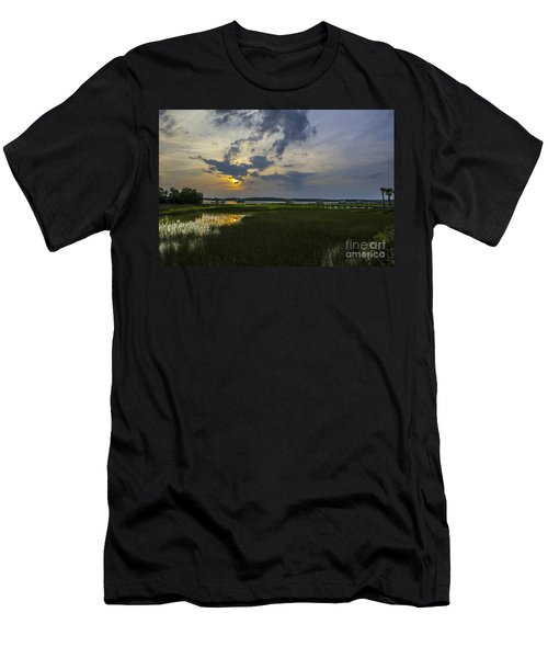 Sunset Over The Wando Men's T-Shirt (Athletic Fit)
