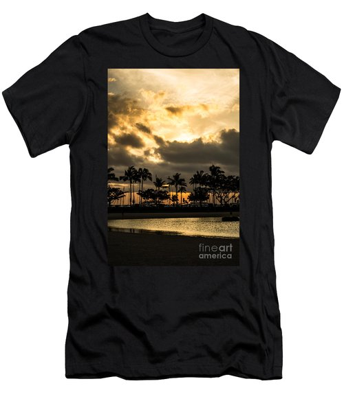 Sunset Over Waikiki Men's T-Shirt (Athletic Fit)