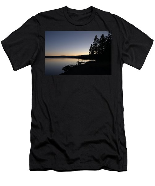 Sunset Over Yellowstone Lake Men's T-Shirt (Athletic Fit)