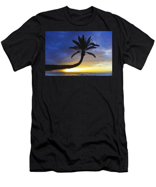 Sunset Palm Men's T-Shirt (Athletic Fit)