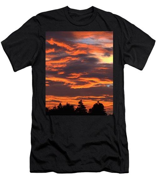 Sunset Men's T-Shirt (Slim Fit) by Pamela Walton