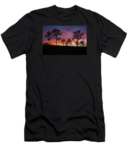 Men's T-Shirt (Slim Fit) featuring the photograph Sunset Pines by Paul Rebmann