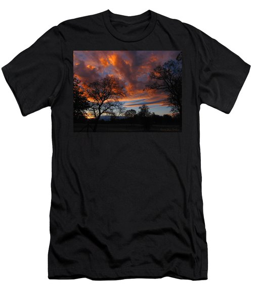 Sunset September 24 2013 Men's T-Shirt (Slim Fit) by Joyce Dickens