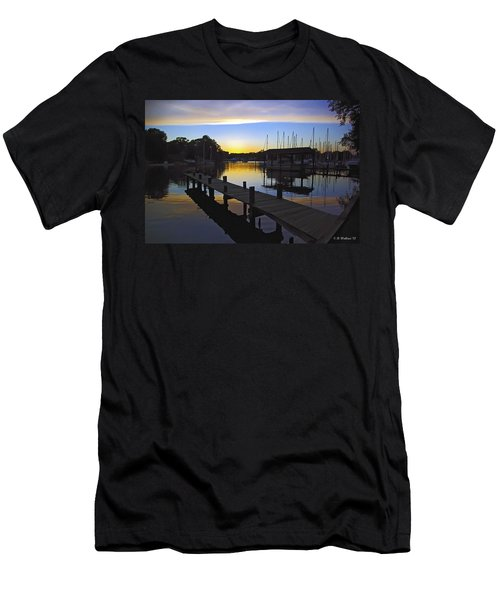 Men's T-Shirt (Slim Fit) featuring the photograph Sunset Silhouette by Brian Wallace