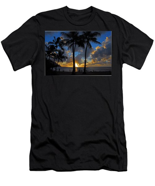 Sunset Silhouettes Men's T-Shirt (Slim Fit) by Lynn Bauer
