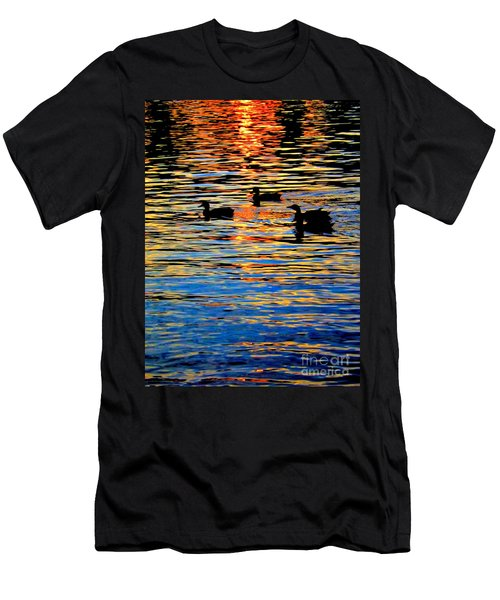 Sunset Swim Men's T-Shirt (Athletic Fit)
