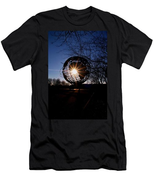 Sunset Through The Unisphere Men's T-Shirt (Athletic Fit)