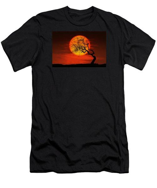 Sunset Tree Men's T-Shirt (Slim Fit) by Bess Hamiti